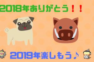 平成最後の年末!2018年やり残したこと・2019年に向けての決意!!